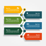 Design template with elements and icons. Vector illustration. Stock Photo
