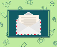 Design template of email marketing and newsletter advertising. Communication concept. Vector Royalty Free Stock Image
