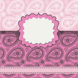 Design template,envelop or card with Paisley lice ornament Royalty Free Stock Photos