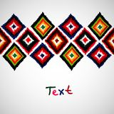 Design template with ethnic ornament . Tribal Stock Images