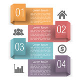 Design Template with Four Elements Stock Photo