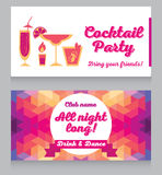 Design template for glamour cocktail party Stock Photography