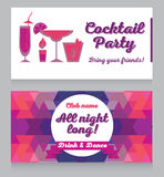 Design template for glamour cocktail party Royalty Free Stock Photo