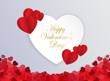 Design Template  Heart for Valentine`s Day Background. Illustration EPS 10 Royalty Free Stock Photo