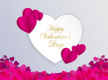 Design Template  Heart for Valentine`s Day Background. Illustration EPS 10 Stock Photos