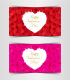 Design Template  Heart for Valentine`s Day Background. Illustration EPS 10 Stock Photo