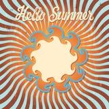 Design template Hello summer.Retro Stock Image