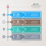 Design template for infographic / banners or website Royalty Free Stock Images