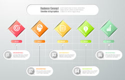 Design template infographic 5 steps. Royalty Free Stock Photos