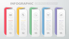 Design template Infographic. Vector illustration can be used for workflow, layout, diagram, process Stock Photos