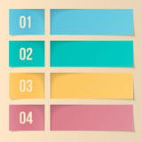 Design Template For Infographics, Numbered Banners, Web Layout. Royalty Free Stock Photo