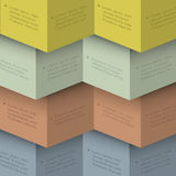 Design template for infographics in origami style Stock Images
