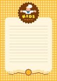 Design template for Kids Menu with funny cook boy Royalty Free Stock Photo