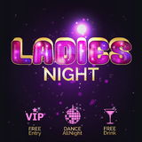 Design template for ladies night out Stock Photography