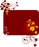 Design template with leafs. Design template with yellow leafs Royalty Free Stock Photography