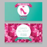 Design template for night party invitation Stock Photo