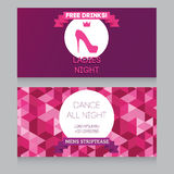 Design template for night party invitation Royalty Free Stock Images