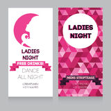 Design template for night party invitation Stock Image