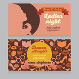 Design template for night party invitation Royalty Free Stock Image