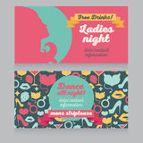 Design template for night party invitation Royalty Free Stock Photography