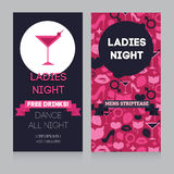 Design template for night party invitation Royalty Free Stock Photos