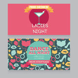 Design template for night party invitation Royalty Free Stock Photo