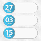 Design Template with Dates Royalty Free Stock Photo