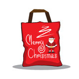 Design template  red bag Christmas Royalty Free Stock Images