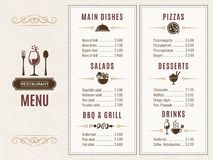 Design template of restaurant menu with place for your text vector illustration