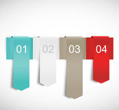 Design template with ribbons Stock Image