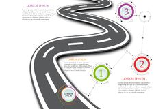 Design template: Road map business timeline, Vector Illustration. Design template: Road map business timeline, Vector Illustrati stock illustration