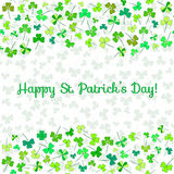 Design template for Saint Patrick's Day. Design template with place for text for Saint Patrick's Day Stock Image
