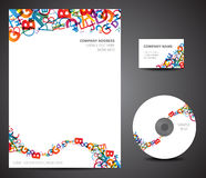 Design template set Royalty Free Stock Photography
