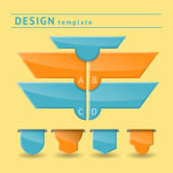 Design template with set of badges.  stock illustration