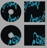 Design template. Set cd on vector Stock Photo