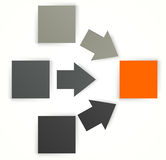 Design template with squares Stock Images