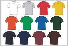 Colorful T-shirt templates Stock Photo