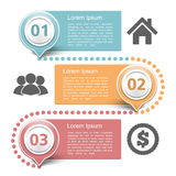 Design Template with Three Steps Royalty Free Stock Images