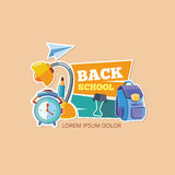 Design template with vector school emblem. Stock Photo