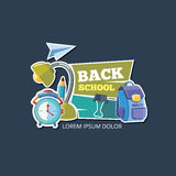 Design template with vector school emblem. Stock Photos
