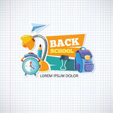 Design template with vector school emblem. Stock Photography