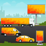 Design template vehicle, outdoor advertising or corporate identity. Royalty Free Stock Images