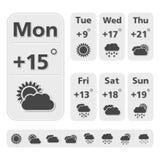 Weather Forecast Design Stock Photography