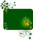 Design template with yellow leafs Royalty Free Stock Photo