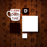 Design template for Your coffee shop. Royalty Free Stock Photography