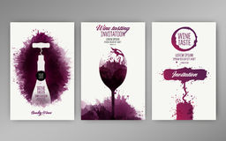 Free Design Templates Background Wine Stains Royalty Free Stock Image - 96866586