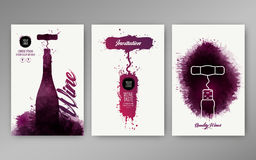 Design templates background wine stains. Suitable for promotions, brochures, tasting events, wine presentation or wine list. Vector Royalty Free Stock Photography