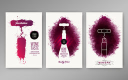 Design templates background wine stains. Suitable for promotions, brochures, tasting events, wine presentation or wine list. Vector Royalty Free Stock Image