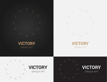Design templates in black, grey and golden colors. Creative mandala logo, icon, emblem, symbol. Stock Photo