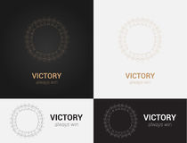 Design templates in black, grey and golden colors. Creative mandala logo, icon, emblem, symbol. Royalty Free Stock Image